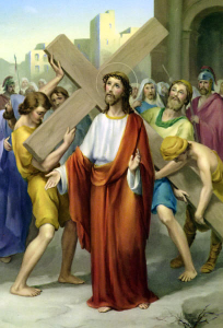 Second station-Jesus carries His cross